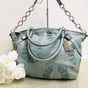 Coach Madison Sophia Willow Blue Leather 16343 EUC